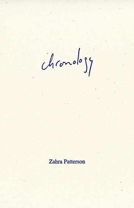 zahra patterson - chronology book cover