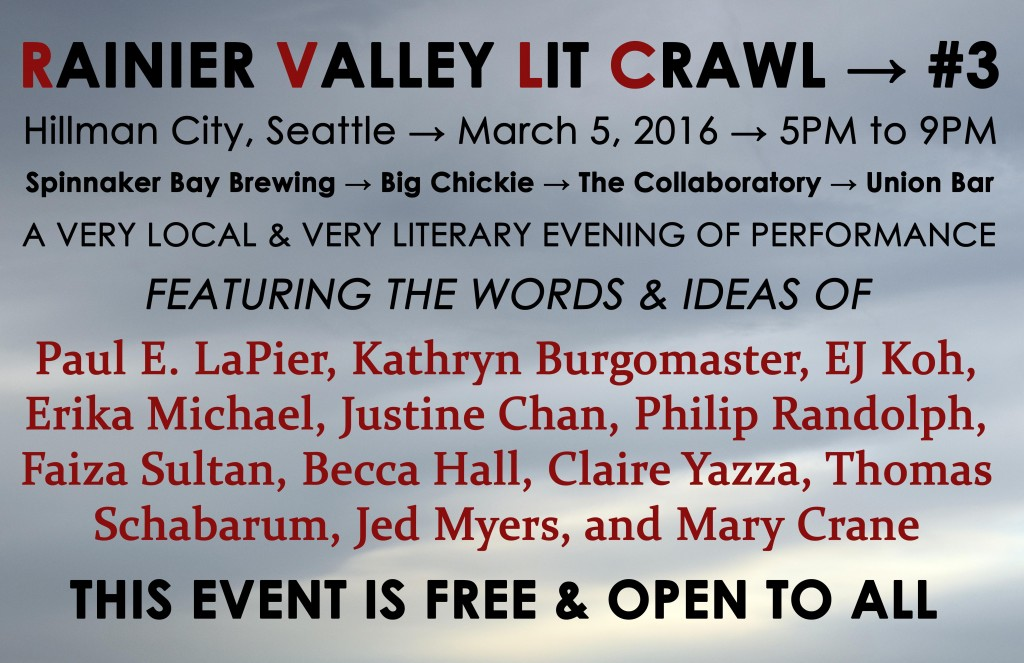 rainier valley lit crawl #3 march 2016