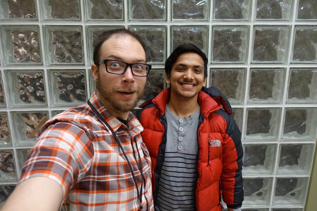 Greg and Anjan